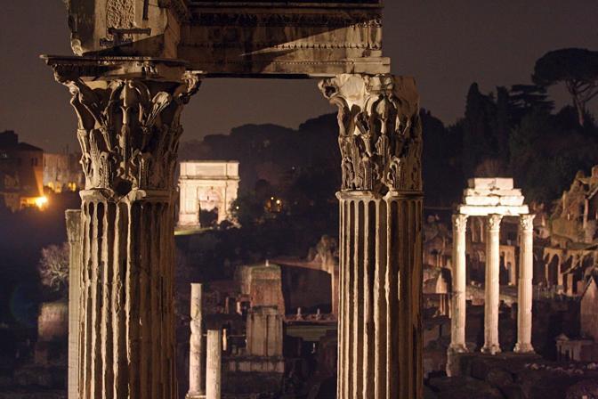 foro romano nuova illuminazione - fotografo: benvegnù - guaitoli - lannutti